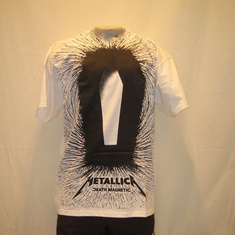 t-shirt metallica death allover wit