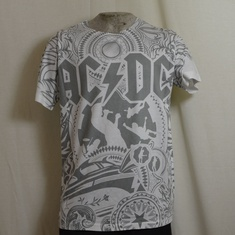 t-shirt acdc black ice allover wit