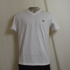fred perry t-shirt v neck wit m6717-100