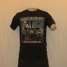 t-shirt iron maiden a matter of zwart