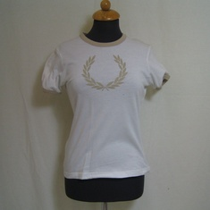 t-shirt dames fred perry wit groot logo g7740-677