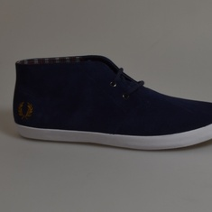 fred perry schoenen byron carbon blue