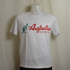 t-shirt australian stamp wit