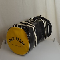 barrel bag fred perry zwart geel l4305-280