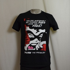 t-shirt harley quin your wrong