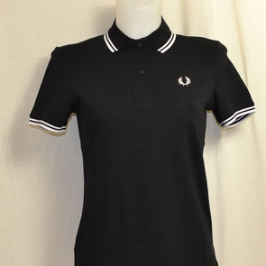 polo dames fred perry g3600-350 zwart