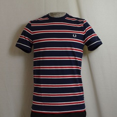 t-shirt fred perry bomber stripe navy