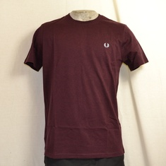 fred perry crew neck t-shirt mahogany