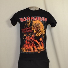 t-shirt iron maiden number of the beast oranje