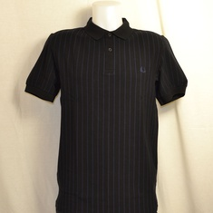 polo fred perry m2610-102 zwart pinstripe