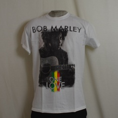t-shirt bob marley love guitar