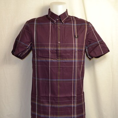 overhemd fred perry jersey back mahogany m4537-g21