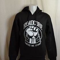hooded sweater hardcore united zwart