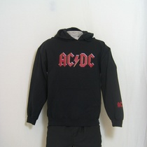 hooded sweater acdc rood logo