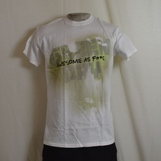 t-shirt greenday overspray wit