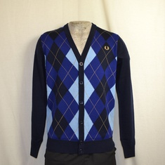 cardigan fred perry argyle dark carbon k9527-395