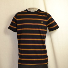 t-shirt fred perry bomber stripe zwart