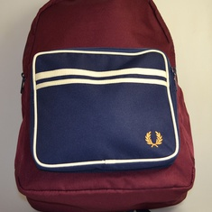 rugzak fred perry bordeaux