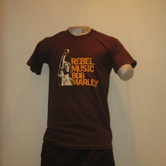 t-shirt bob marley rebel music