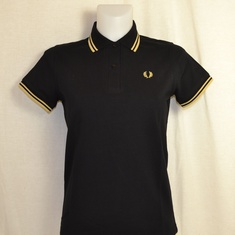 polo dames fred perry g12-157 zwart