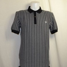 polo fred perry m2610-829 grijs pinstripe