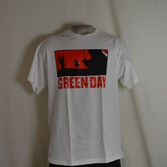 t-shirt greenday warning wit