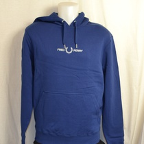 hooded sweater fred perry blauw m8673-588