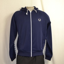 hooded trainingsjack fred perry navy
