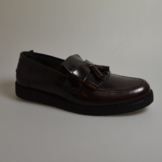 loafers fred perry george cox oxblood