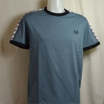fred perry t-shirt taped m6347-e79 blauwgrijs