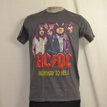 t-shirt acdc highway to hell grijs