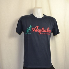 t-shirt australian stamp navy