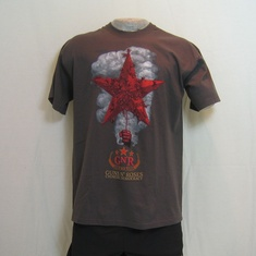t-shirt guns and roses star grijs