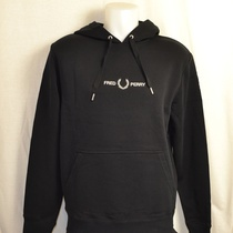 hooded sweater fred perry zwart m8673-102