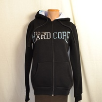 hooded vest dames hardcore zwart dream logo