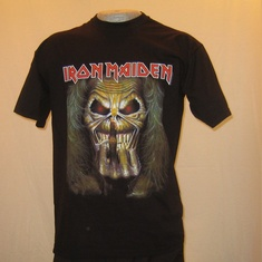 t-shirt iron maiden finger