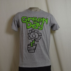 t-shirt greenday flower pot