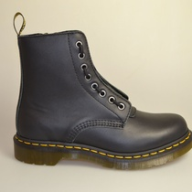 dr martens pascal black nappa front zip