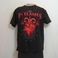 t-shirt in flames baphomet jester