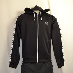 hooded trainingsjack fred perry zwart j9520