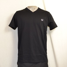 fred perry t-shirt v neck zwart m6717-102
