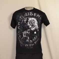 t-shirt iron maiden number of the beast greystone
