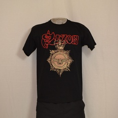t-shirt saxon strong arm of the law