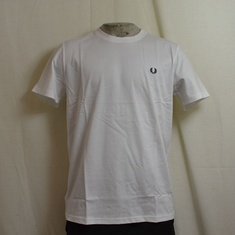 t-shirt fred perry crew neck m6334-100 wit