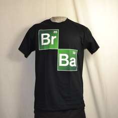 t-shirt breaking bad brba zwart