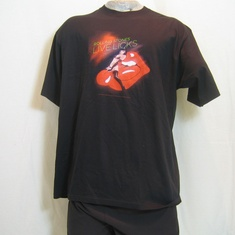 t-shirt the rolling stones live licks