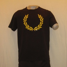 t-shirt fred perry m5273-280 zwart