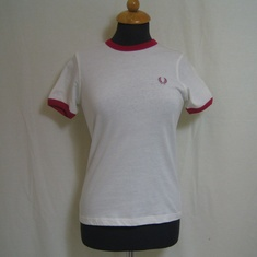 t-shirt dames fred perry klein logo wit g1721-129