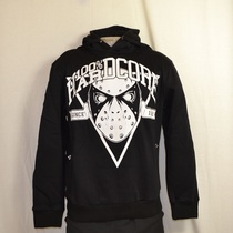 hooded sweater hardcore mask zwart