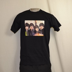 t-shirt the beatles band over logo